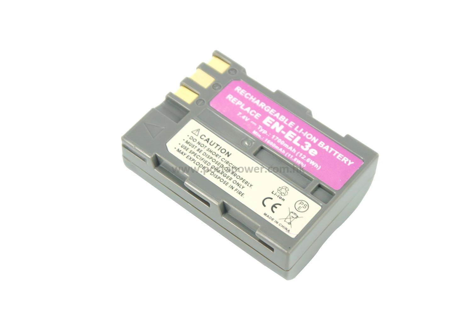 Replacement for Nikon DSLR D700 Battery and Charger 1600mAh 7.4V Lithium-Ion Compatible with Nikon EN-EL3E Digital Camera Batteries and Chargers